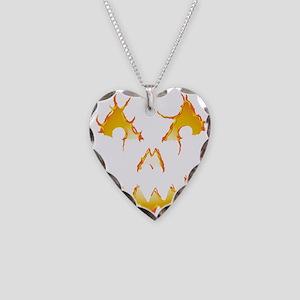 Jack-O-Lantern Necklace Heart Charm