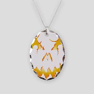 Jack-O-Lantern Necklace Oval Charm