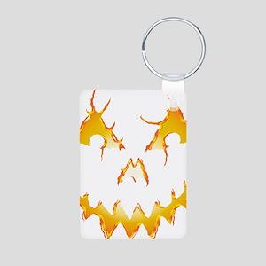 Jack-O-Lantern Aluminum Photo Keychain