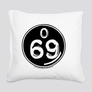 O 69 trans Square Canvas Pillow