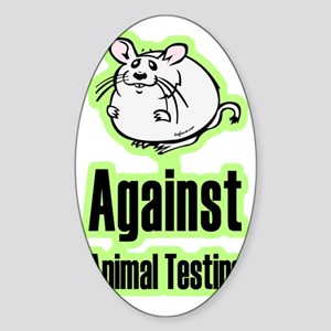 againstanimaltesting Sticker (Oval)
