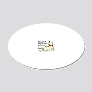 actresponsibly2 20x12 Oval Wall Decal