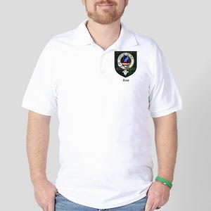 Rose Clan Crest Tartan Golf Shirt