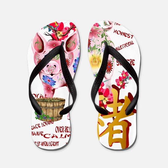 Year Of The Pig - Trans Flip Flops