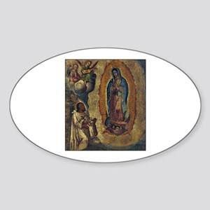Juan Diego - Guadalupe Oval Sticker