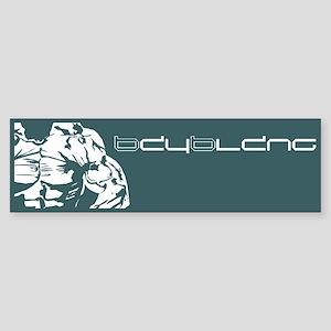 Muscle Series Bumper Sticker (slate)