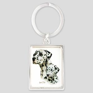 Dalmatian  Pup Portrait Keychain
