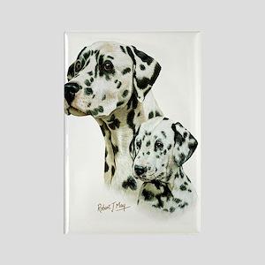 Dalmatian  Pup Rectangle Magnet