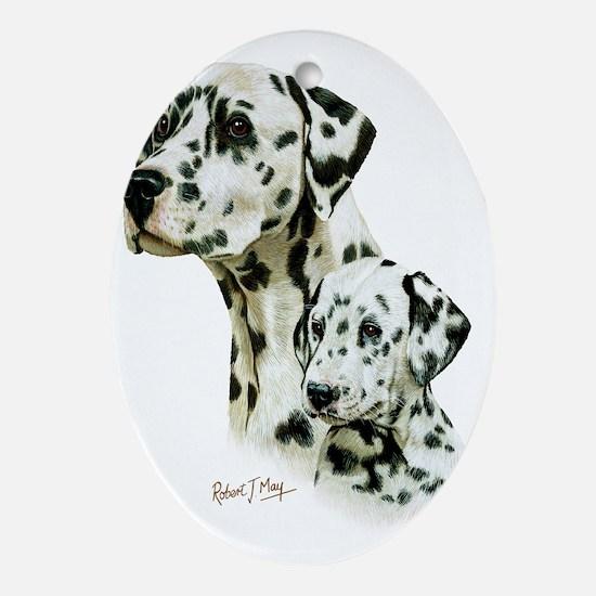 Dalmatian  Pup Oval Ornament