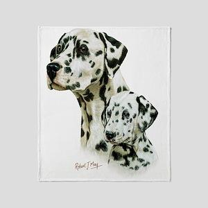 Dalmatian  Pup Throw Blanket