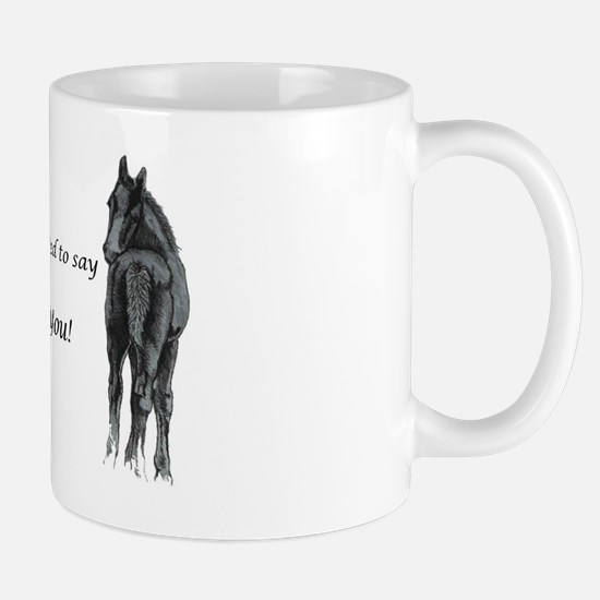 2 foals Thank You Mug