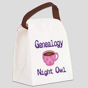 GENEALOGYnightowl2 Canvas Lunch Bag