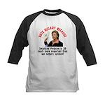 Vote Hillary Because Kids Baseball Jersey