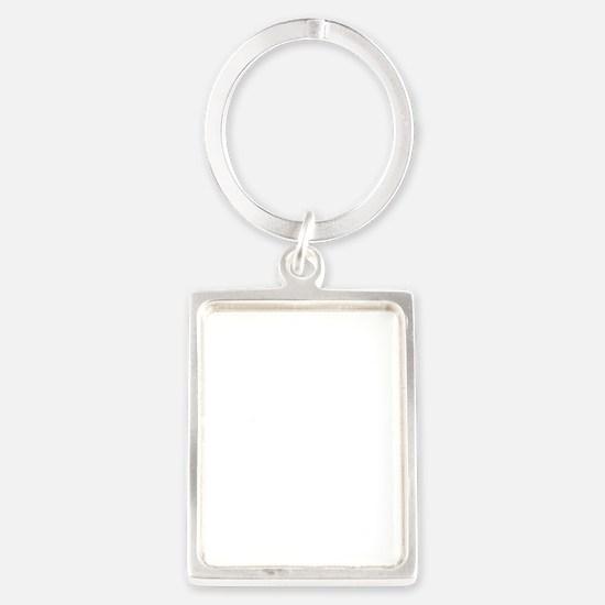 NoLightwhite Portrait Keychain