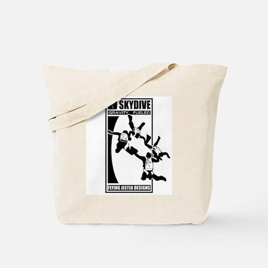 Gravity Fueled 4 Way RW Skydiving Tote Bag