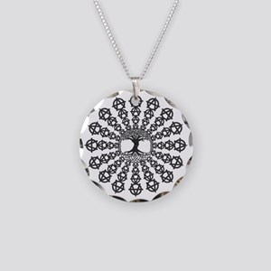 Anarchy tree of life Necklace Circle Charm