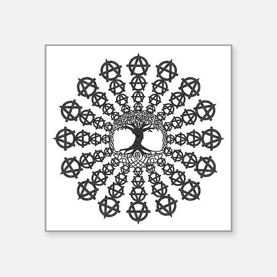 "Anarchy tree of life Square Sticker 3"" x 3"""