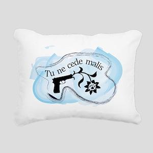 Anarchy Gun Flower Rectangular Canvas Pillow