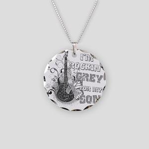 Im Rockin Grey for my Son Necklace Circle Charm