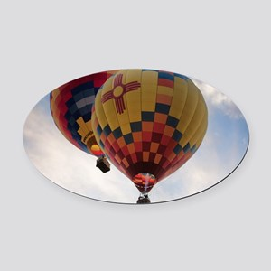 Balloon Poster Oval Car Magnet