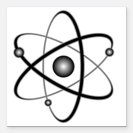 """10x10_apparel_Atom Square Car Magnet 3"""" x 3"""""""