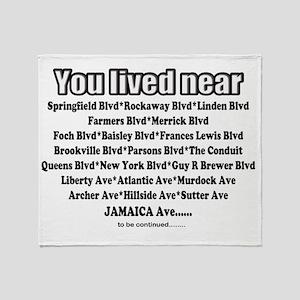 jamaica shirts you lived near black Throw Blanket