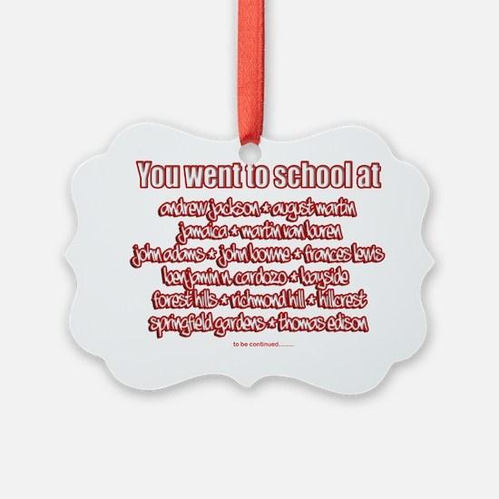 jamaica shirts high schools red Ornament
