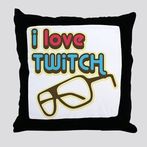 I Love Twitch Throw Pillow