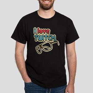 I Love Twitch Dark T-Shirt