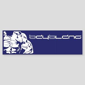 Muscle Series Bumper Sticker (blue)