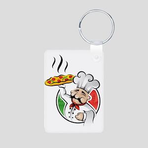 PizzaCasa LOGO Aluminum Photo Keychain