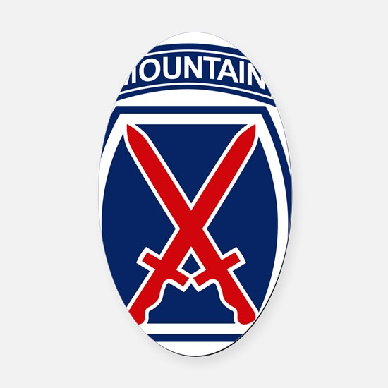 10th Mountain Division Oval Car Magnet