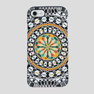 High contrast mandala iPhone 7 Tough Case