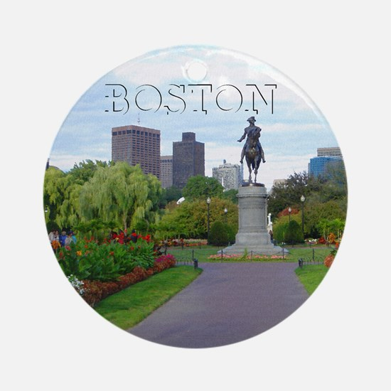Boston_4.25x4.25_Tile Coaster_Bosto Round Ornament