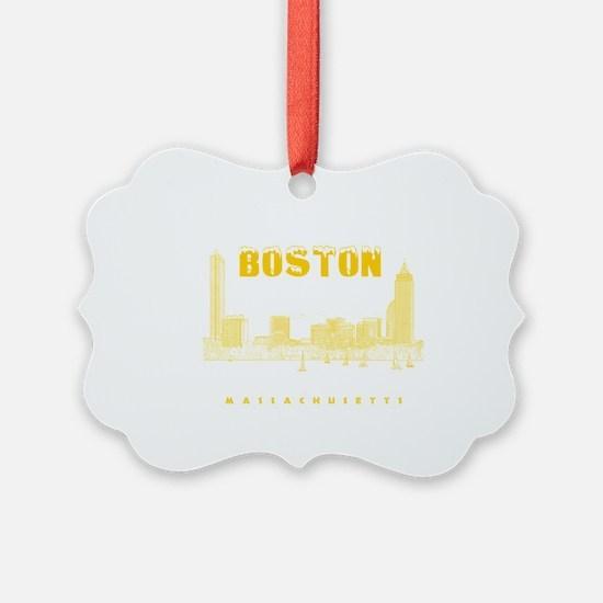 Boston_7x7_BostonSkyline_Yellow Ornament