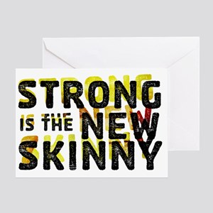 Strong is the New Skinny - Double Vi Greeting Card