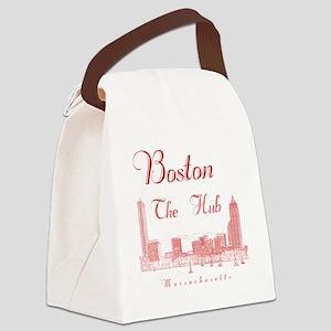 Boston_10x10_Skyline_TheHub_Red Canvas Lunch Bag