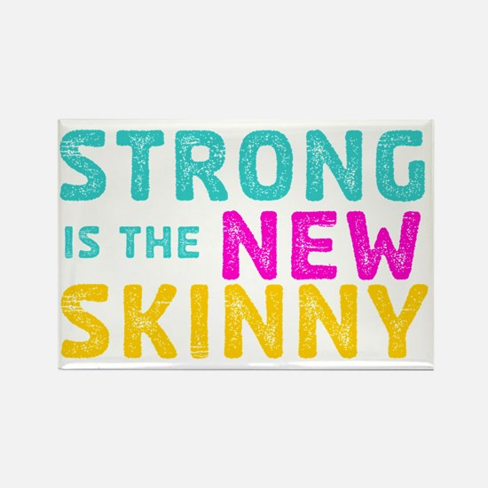 Strong is the New Skinny - Sketch Rectangle Magnet