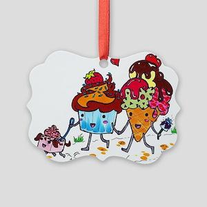 foodartcupcakesundae Picture Ornament