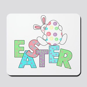 Bunny With Easter Egg Mousepad
