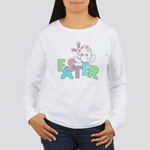 Bunny With Easter Egg Women's Long Sleeve T-Shirt