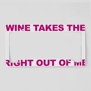 Wine-Bitch-blk License Plate Holder
