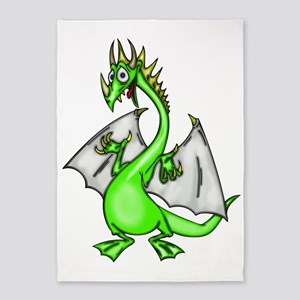 Funny Dragon 5'x7'Area Rug