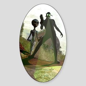 Alien Hunters Sticker (Oval)