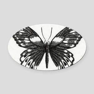 butterflydarksm Oval Car Magnet