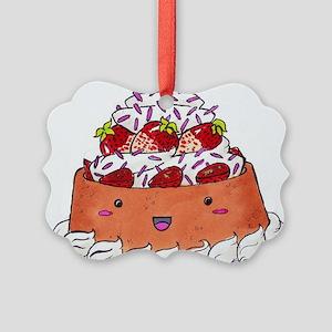 foodartstrawberryshortcake Picture Ornament