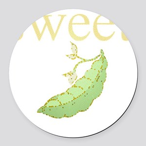 Personality_SweetPea Round Car Magnet