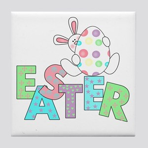 Bunny With Easter Egg Tile Coaster
