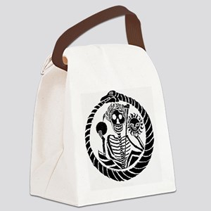 Wall Clock Skeleton and snake Canvas Lunch Bag