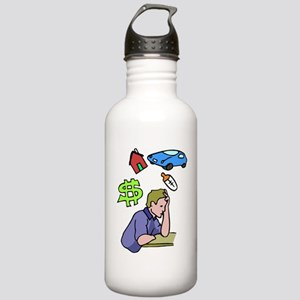 Family Stress Man Stainless Water Bottle 1.0L